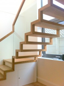 Modern stairs with storage