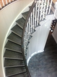 sweeping cut string staircase stairs UK