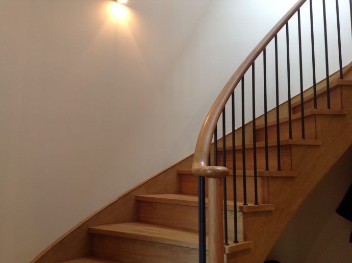 Curved staircase stairs UK