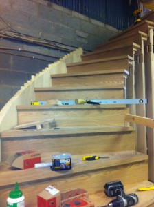 Installation and manufacture of curved staircase custom stair design
