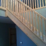 Traditional oak stairs