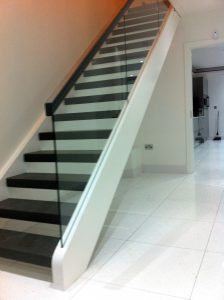 Modern straight stairs