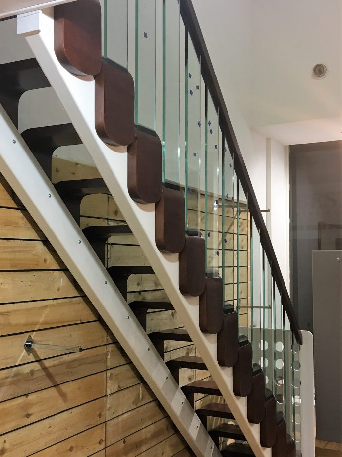 Open tread modern stairs